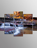Stretched Canvas Print Landscape Modern,Five Panels Canvas Any Shape Print Wall Decor For Home Decoration
