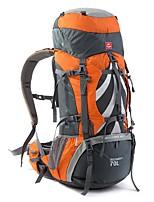 70 L рюкзак Заплечный рюкзак Многофункциональный Оранжевый