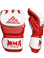 Boxing Gloves for Boxing Fingerless Gloves Protective Nylon Leather Black White