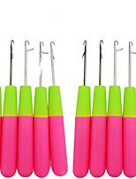 10pcs/lot Plastic crochet braids needle Hair Extension Tools Hook Needle Threader Knitting hair crochet needles for synthetic braiding hair
