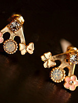 Lovely Butterfly Small And Pure And Fresh Flowers Set Auger Multielement Earring Earrings