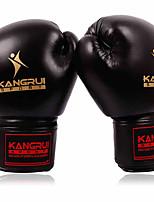 Боксерские перчатки для Бокс Полный палец Защитный Нейлон Кожа Черный Красный