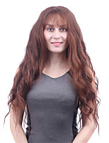 Long Body Wave Light Brown Women Synthetic Wig Fiber Cheap Cosplay Party Hair