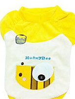 Dog Coat Dog Clothes Winter Cartoon Cute Yellow Black