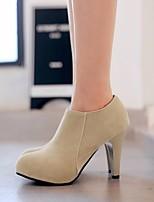 Çizmeler-Rahat-Topuktan Bağlamalı-PU-Kalın Topuk--Kadın