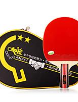 2 Звезды Ping Pang/Настольный теннис Ракетки Ping Pang Дерево Длинная рукоятка Прыщи