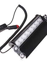 8w 8led rojo / azul coche auto camioneta policía flash estroboscópico luz de destello windowshield emergencia luces intermitentes dc12v