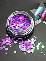 1bottle moda romântica cor redonda fatia decoração unha arte glitter rodada paillette unha arte diy beleza fatia p18