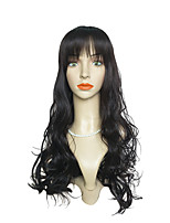 Very Long Synthetic Natural Wigs Wigs Costume Wigs Cosplay Wigs With Neat Bangs