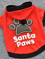 Собаки Плащи Футболка Одежда для собак Лето Однотонный Милые Спорт Мода Черный Красный