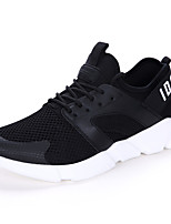 Men's Sneakers Spring Summer Comfort Couple Shoes Tulle Outdoor Athletic Casual Flat Heel Gore Red Black White Running