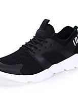Белый Черный Красный-Для мужчин-Для прогулок Повседневный Для занятий спортом-Тюль-На плоской подошве-Удобная обувь Пара обуви-Кеды