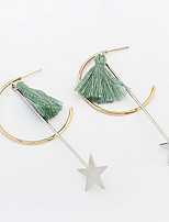 Drop Earrings Tassel Euramerican Fashion Copper Star Jewelry For Party Daily 1 Pair