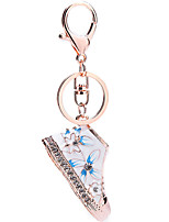 Crystal Rhinestone Keychains Shoe Keyring Charm Handbag Key Holder Bag Accessories