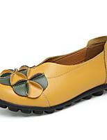Dames Loafers & Slip-Ons Zomer Herfst Comfortabel Mocassin Lichtzolen Kunstleer Formeel Casual Lage hak Appliqué Geplooid Bloem Combinatie