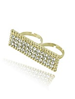 Ring Geometric Rhinestone Zinc Alloy Jewelry For Wedding Party Special Occasion 1pc