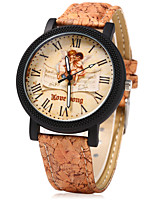 Women's Dress Watch Fashion Watch Unique Creative Watch Chinese Quartz Wood Band Vintage Cartoon Unique Creative Casual Beige