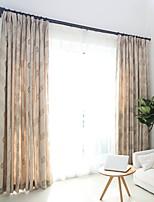 שני פנאלים טיפול חלון ארופאי , פרח חדר שינה תערובת פוליאסטר/כותנה חוֹמֶר Blackout וילונות וילונות קישוט הבית For חַלוֹן