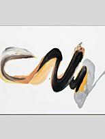 Ручная роспись Абстракция Горизонтальная Панорамный,Modern Классика 1 панель Холст Hang-роспись маслом For Украшение дома