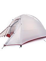 1 personne Tente Double Tente pliable Une pièce Tente de camping Silicone Pliable Portable-Camping Extérieur-Gris