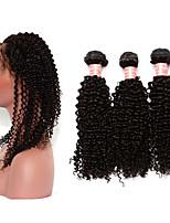 One Pack Solution Монгольские волосы Kinky Curly 12 месяцев 4 предмета волосы ткет