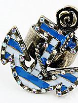 Anneaux Bague Cuff Anneau StrassBasique Original Logo Amitié Pierre Le style mignon euroaméricains Bricolage Bijoux initial Victorien
