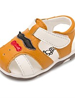 Kids' Baby Sandals First Walkers Cowhide Casual First Walkers Flat Heel White Yellow Flat