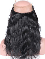 Brazilian Virgin Human Hair Closure Pre Plucked 360 Lace Frontal Closure with Baby Hair Body Wave 360 Lace Closure with Blenched Knots Natural Color
