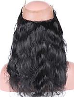 brasileira virgem fecho cabelo humano pré arrancado 360 fecho laço frontal com onda corpo cabelo bebé fecho 360 laço com nós empalideceu