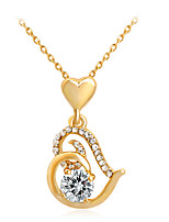 Women's Pendant Necklaces Heart Rhinestone Alloy Euramerican Fashion Jewelry ForWedding Special Occasion Anniversary Birthday Engagement