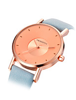 REBIRTH® Women's Fashion Watch Quartz PU Band Black White Blue Pink