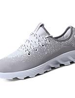 Homme-Décontracté-Noir Gris Bleu-Talon Plat-Confort-Chaussures d'Athlétisme-Polyuréthane