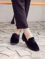 Damen-High Heels-Lässig-Vlies-Niedriger Absatz Blockabsatz-Leuchtende Sohlen-
