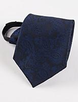 New men business blue zip tie