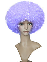 Capless Fashion Wigs Kinky Curly Afro Wig Purple Short Bob For Black Women Heat Resistant Hairstyle