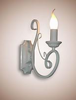 E12/E14 Candle Lamp Bedside Lamp Wall Lamp Iron Corridor Creative Pastoral Mirror Lamp