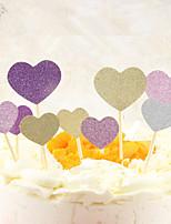 Ferramenta de Decoração Coração Para Bolo Para Chocolate Para Pão para Cupcake em botão Plástico