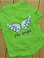 Chien Tee-shirt Vêtements pour Chien Eté Lettre et chiffre Mignon Mode Sportif Violet Vert