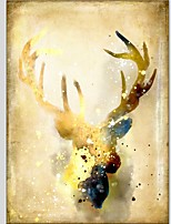 Ručně malované Zvíře Vertikální Panoramic,Moderní Klasický Jeden panel Plátno Hang-malované olejomalba For Home dekorace