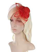 Womens Fashion Handmake Flowers Many Color Pearl Mesh Headdress