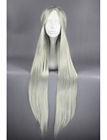 Silver white straight anime 40inch cosplay perruque cheveux cs-164a