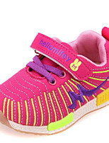 Girls' Sneakers Spring Fall Comfort Tulle Casual Flat Heel Blue Red Fuchsia