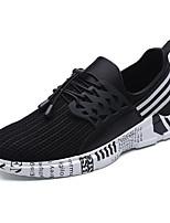Черный Черно-белый-Для мужчин-Для прогулок Повседневный Для занятий спортом-ТканьУдобная обувь-Мокасины и Свитер
