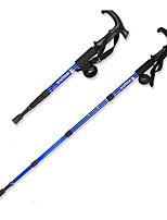 3 Bengalas para Caminhar Nórdicas 110 centímetros (43 polegadas) Húmido Dobrável Peso Leve Ajustável Liga de AlúminioAcampar e Caminhar