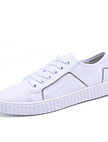 Men's Sneakers Spring Fall Comfort Fabric Casual Black White