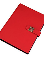 Belt Buckle Imitation Leather Business Notebook