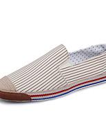 Белый Бежевый Синий-Для мужчин-Повседневный-ТканьУдобная обувь-Мокасины и Свитер