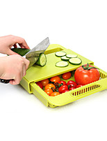 1Pcs  Multifunction Chopping Blocks Kitchen Drain Basket Chopping Board Non-Slip Frosted Antibacteria Kitchen Cutting Board