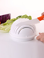 2Pcs  Salad Cutter Bowl Easy Salad Fruit Vegetable Washer And Cutter Quick Salad Maker Chopper