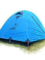 2 personnes Tente Unique Tente pliable Une pièce Tente de camping >3000mm Fibre de verre Oxford Etanche Portable-Randonnée Camping-Bleu